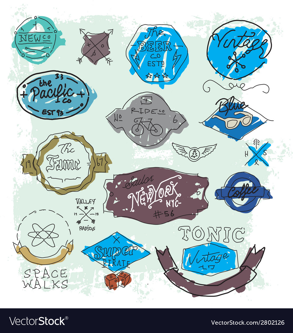 Vintage Hand drawn logos