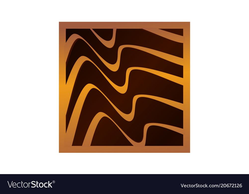Wood fiber furniture vector image