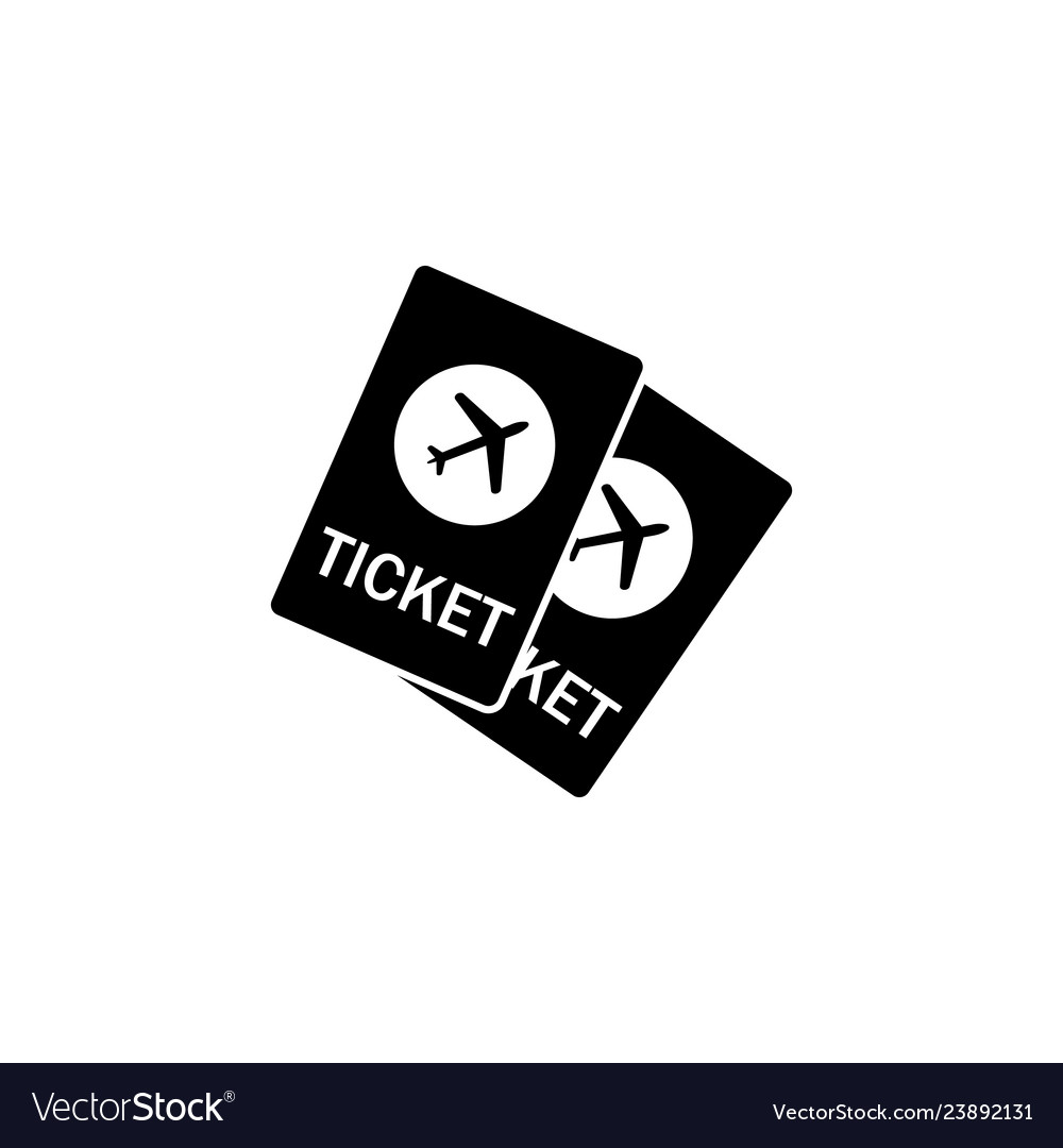 Airplane tickets icon element of travel icon for