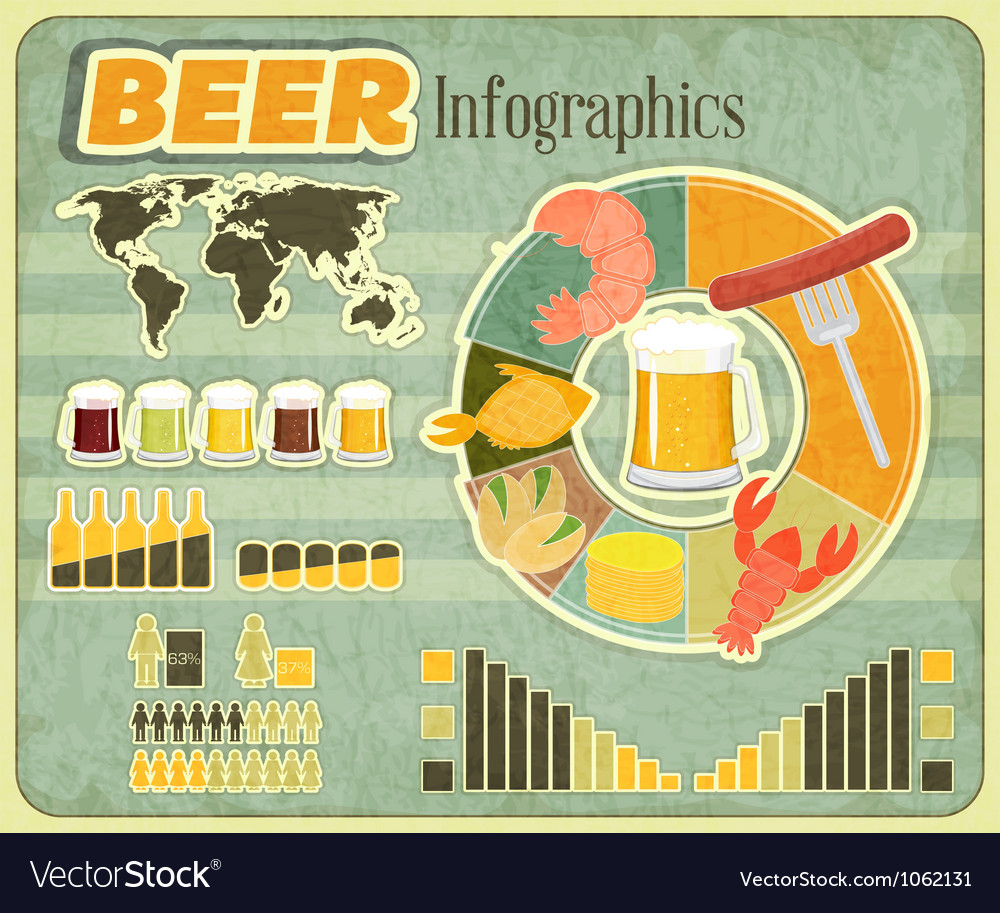 Beer icons Snack and elements vector image