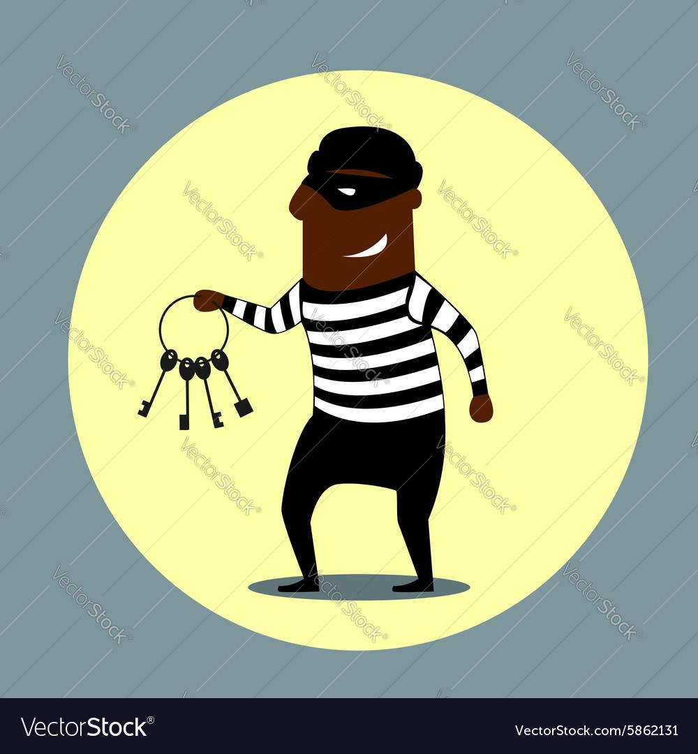 Burglar carrying a set keys