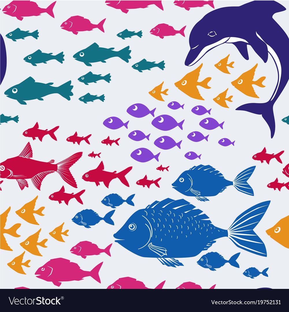 Cartoon seamless underwater background