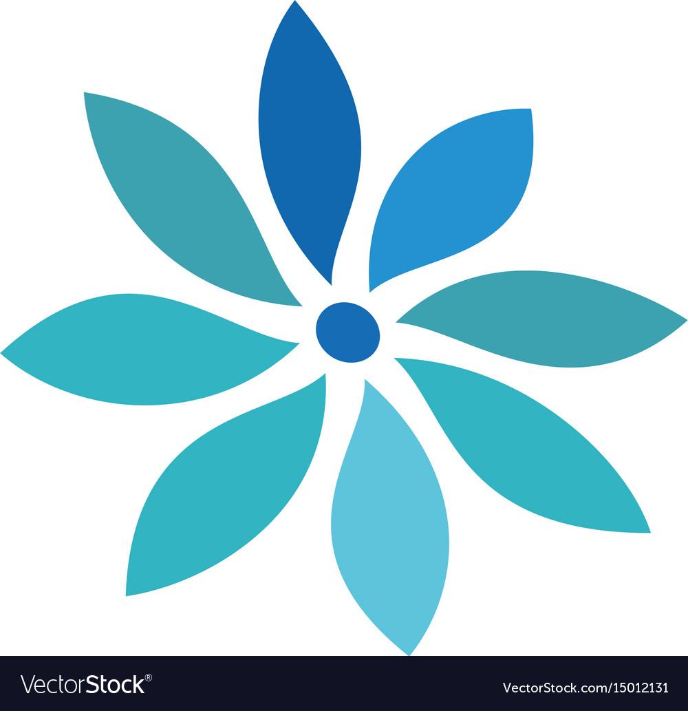 Circle flower logo image