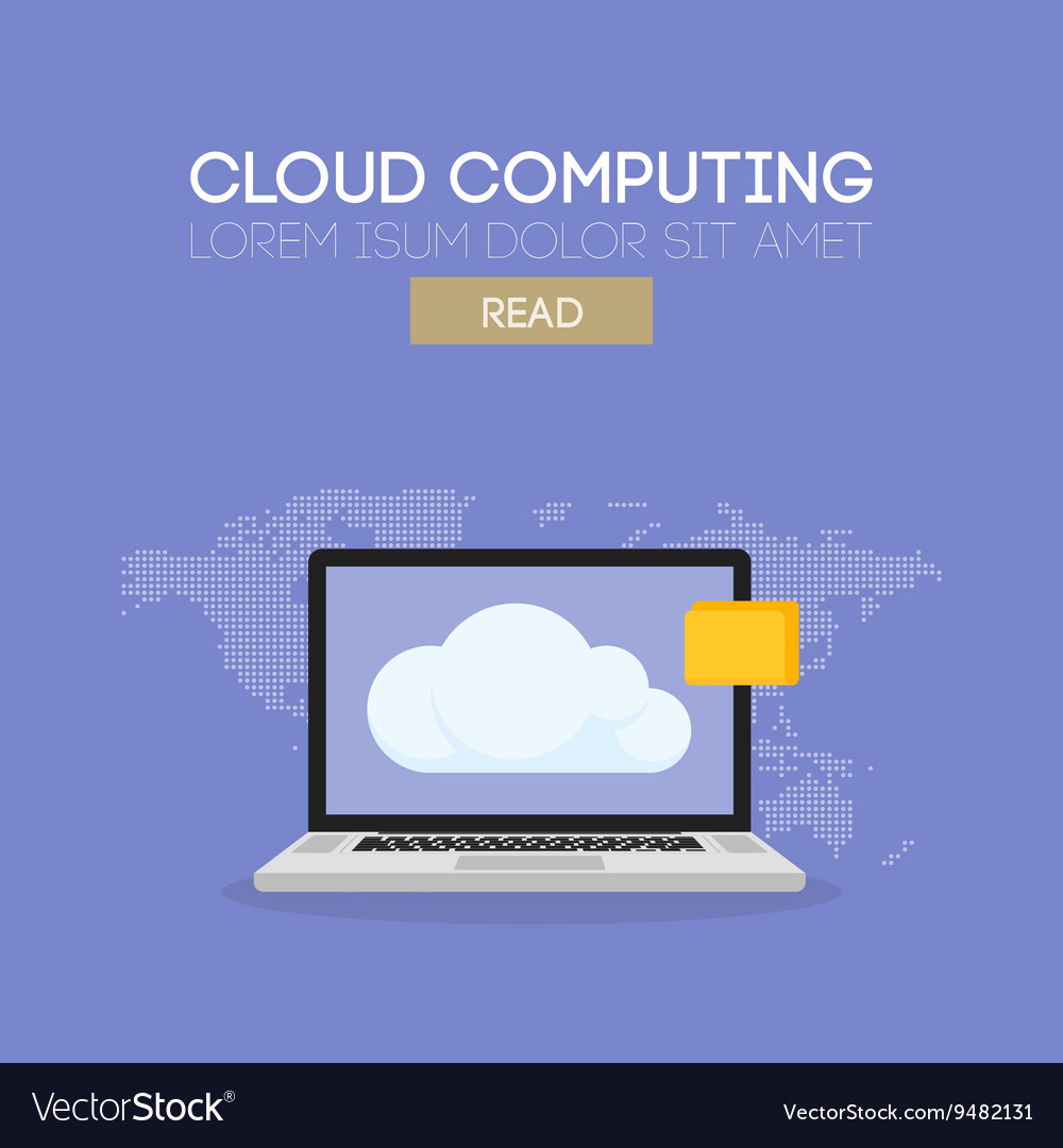 Cloud computing banner concept