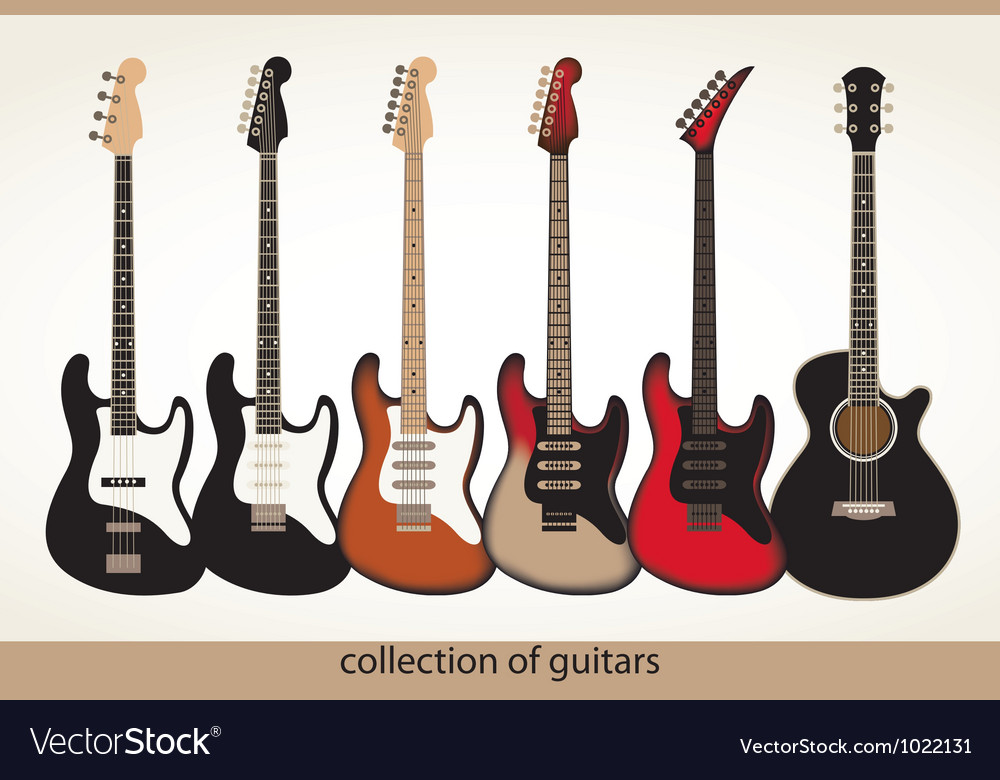 Collection guitars