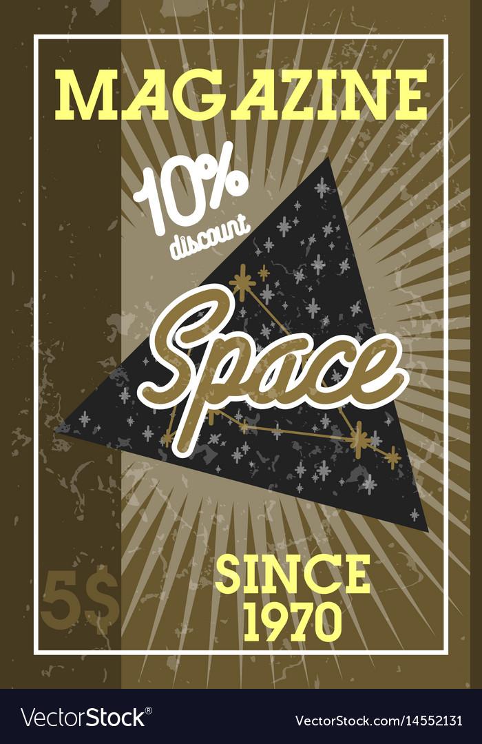 Color vintage space banner vector image