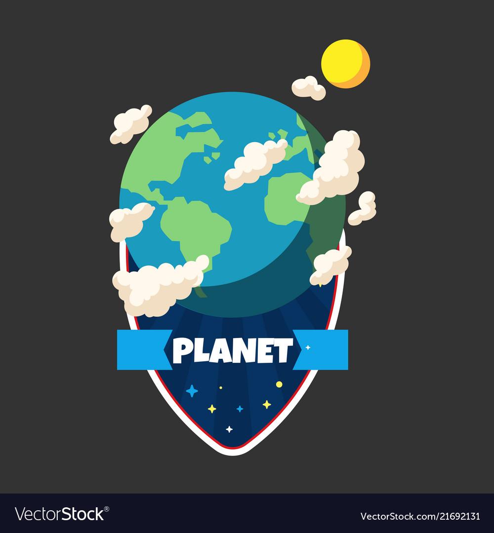 Planet ribbon earth planet design image