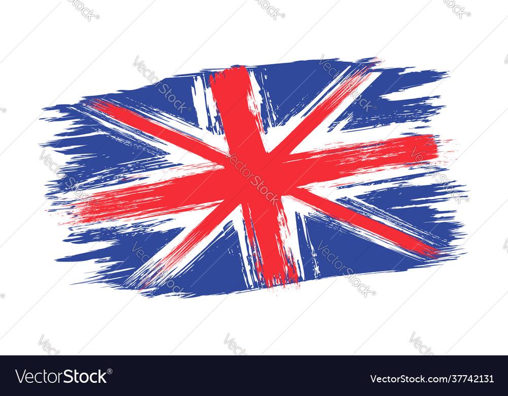 Vintage british flag drawing flag uk in grunge