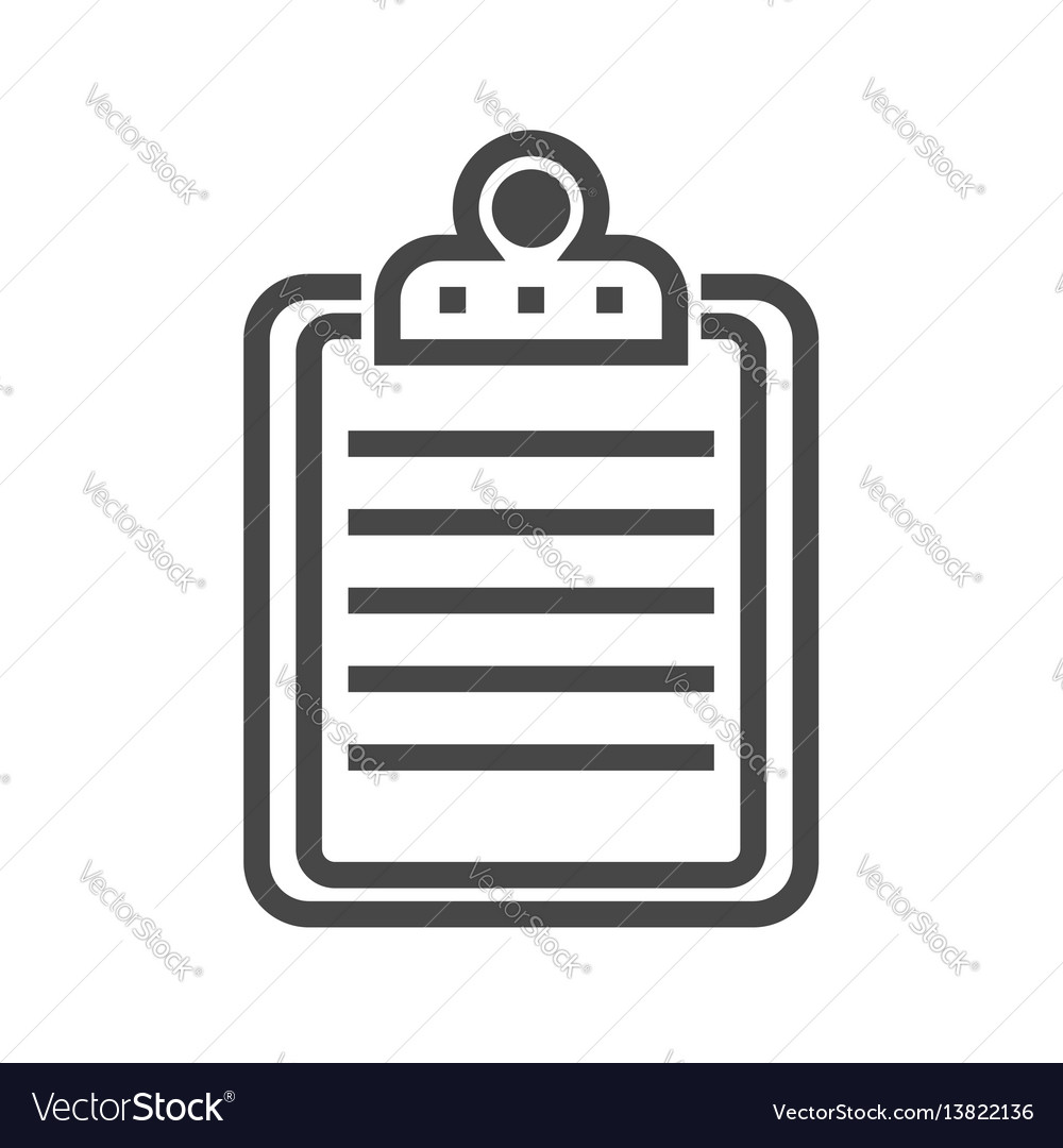Clipboard thin line icon