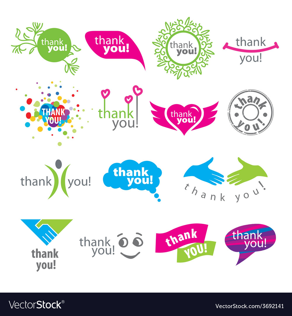 Big set of logos thank you