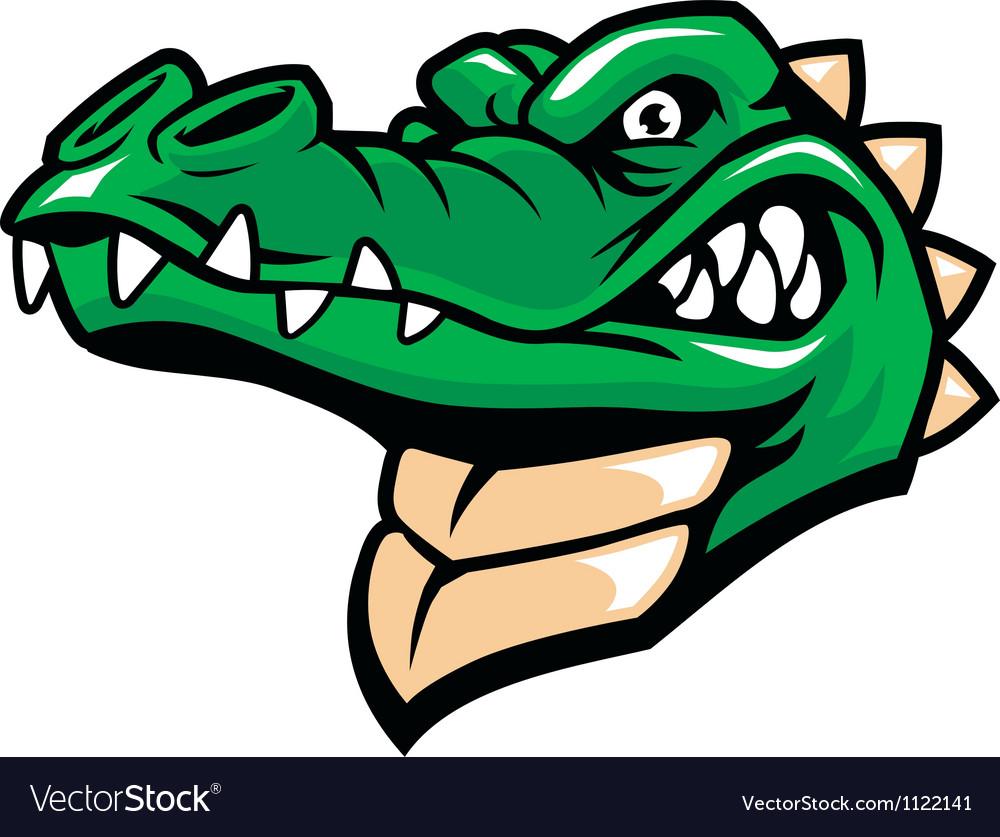 Crocodile head mascot vector image