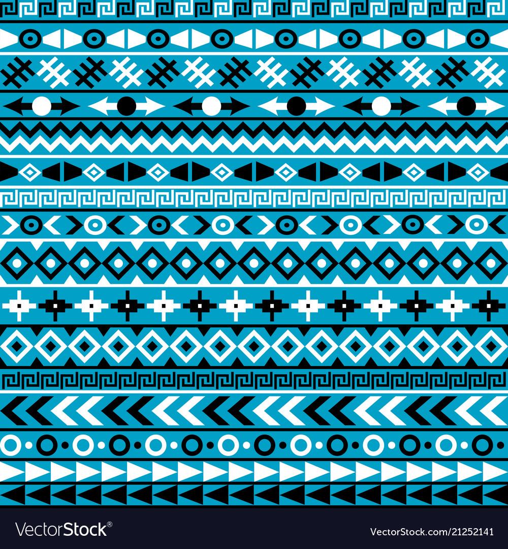 Ethnic motifs on blue background