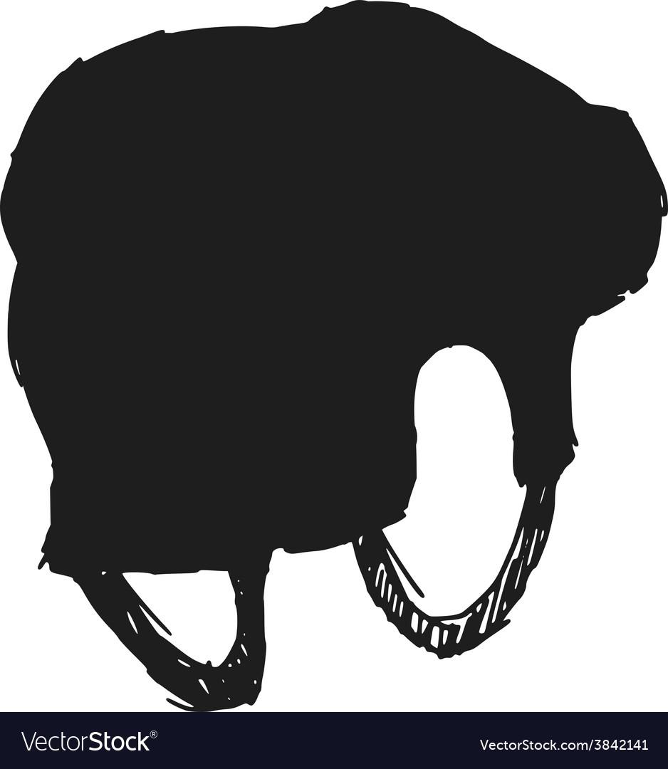 Hockey helmet vector image