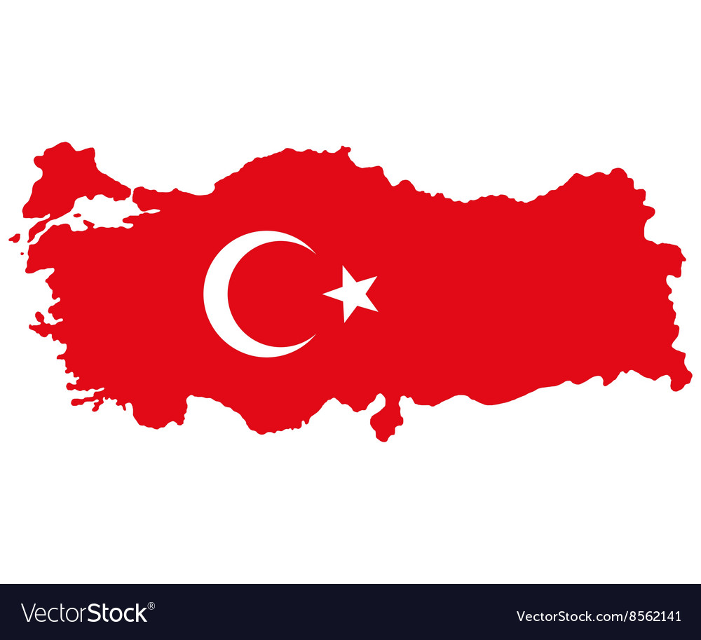 Map of Turkey Turkish flag
