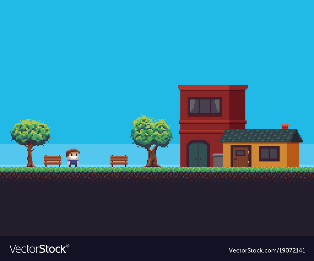 pixel game background royalty free vector image