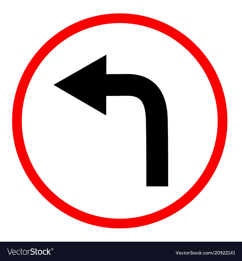 Turn right sign on white background turn right