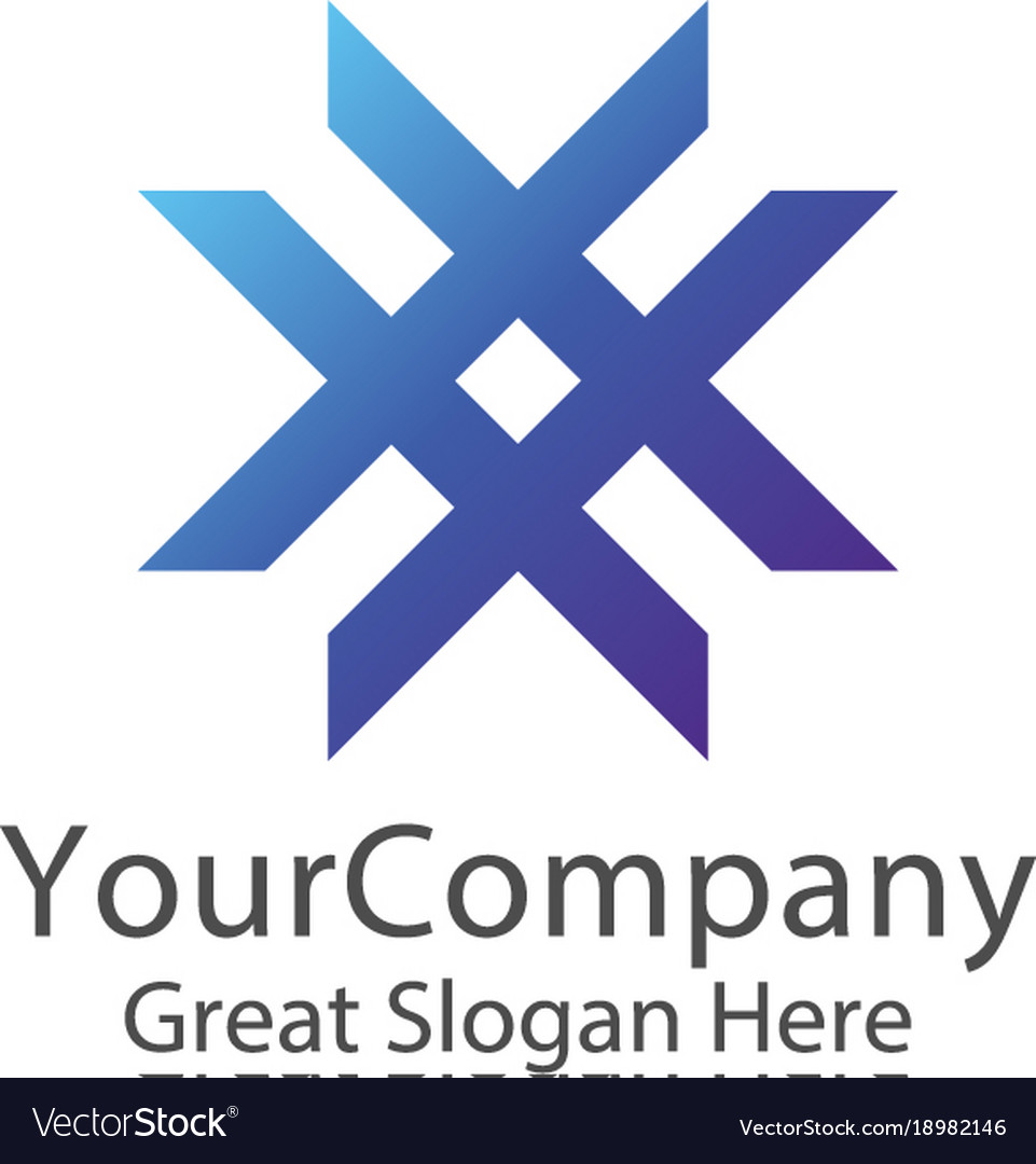 Abstract letter x logo smart education symbol
