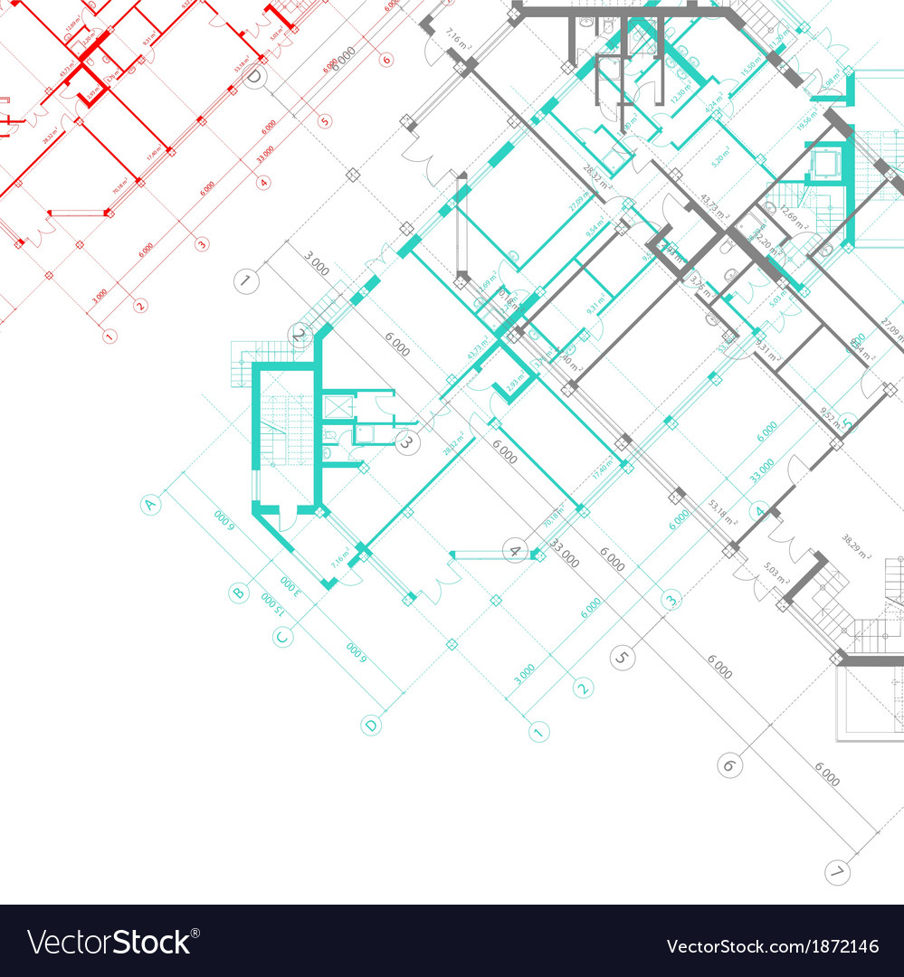 Architectural Background With Plans Royalty Free Vector