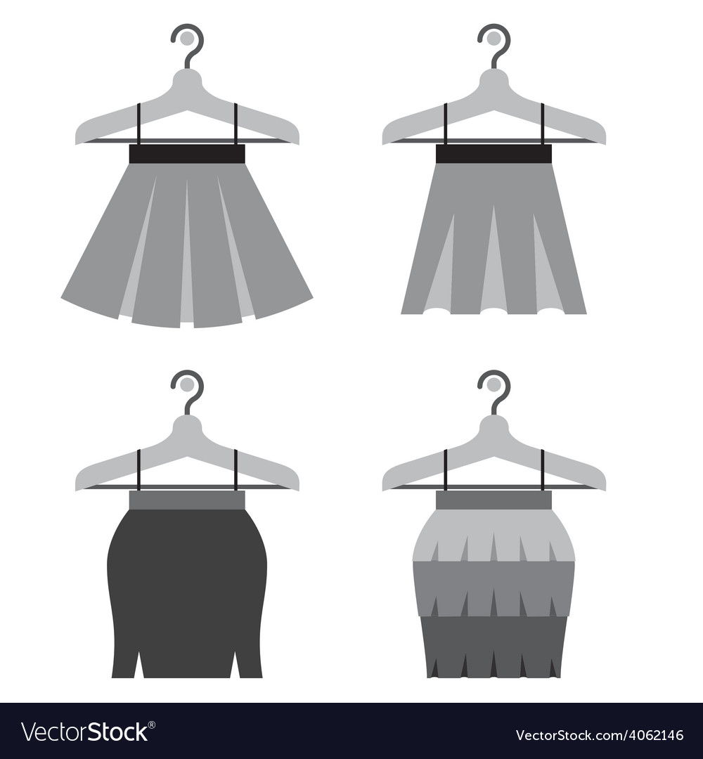 Black Women Skirts With Hangers