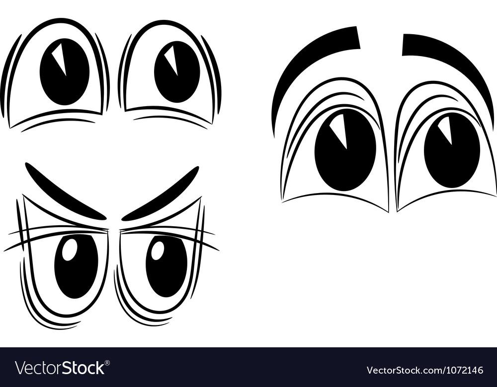 Cartoon eyes eps10 vector image