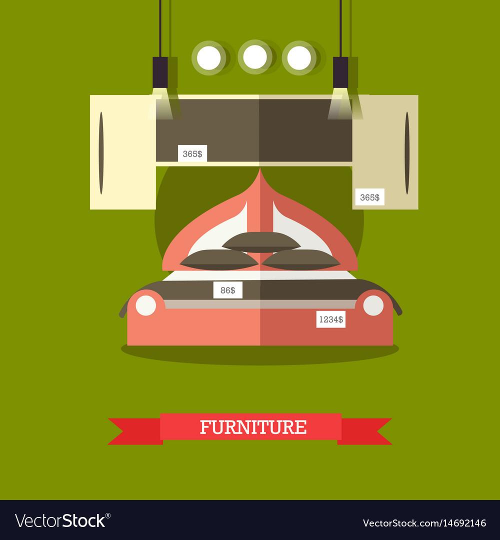 Furniture shop concept in flat