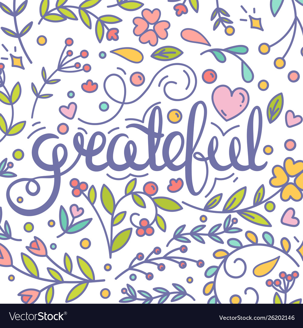 Grateful inspirational quote thanksgiving card