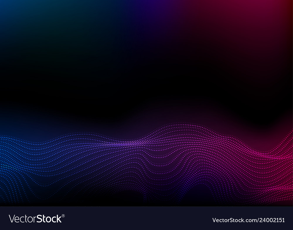 Abstract futuristic blue purple wavy dotted lines