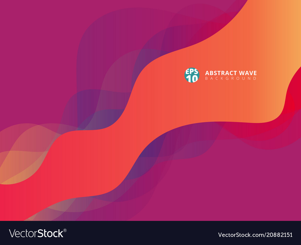 Abstract modern waves overlap on purple background