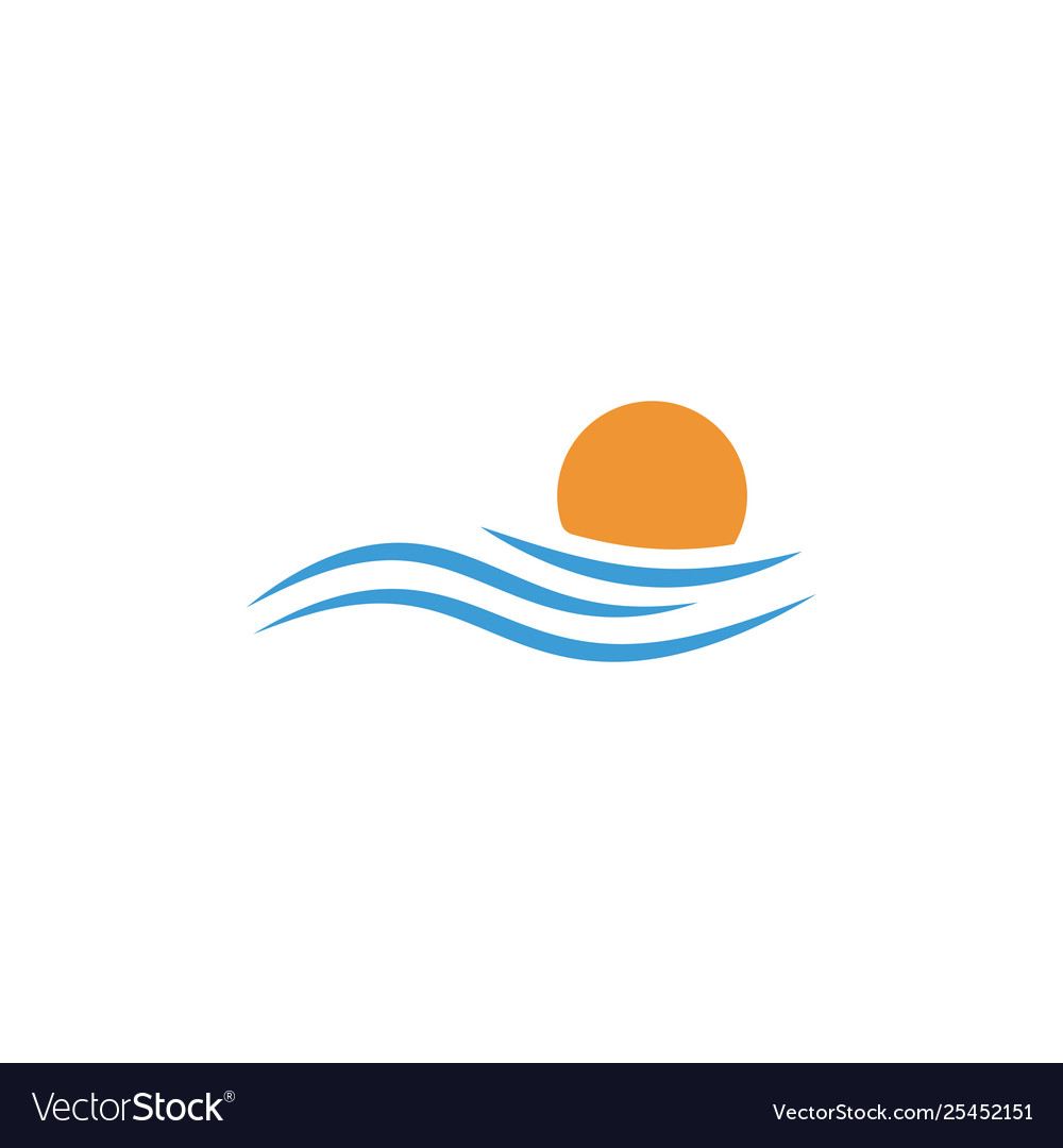 Beach sunset logo design icon element sunset logo