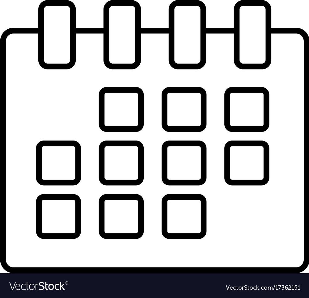 Calendar isolated symbol