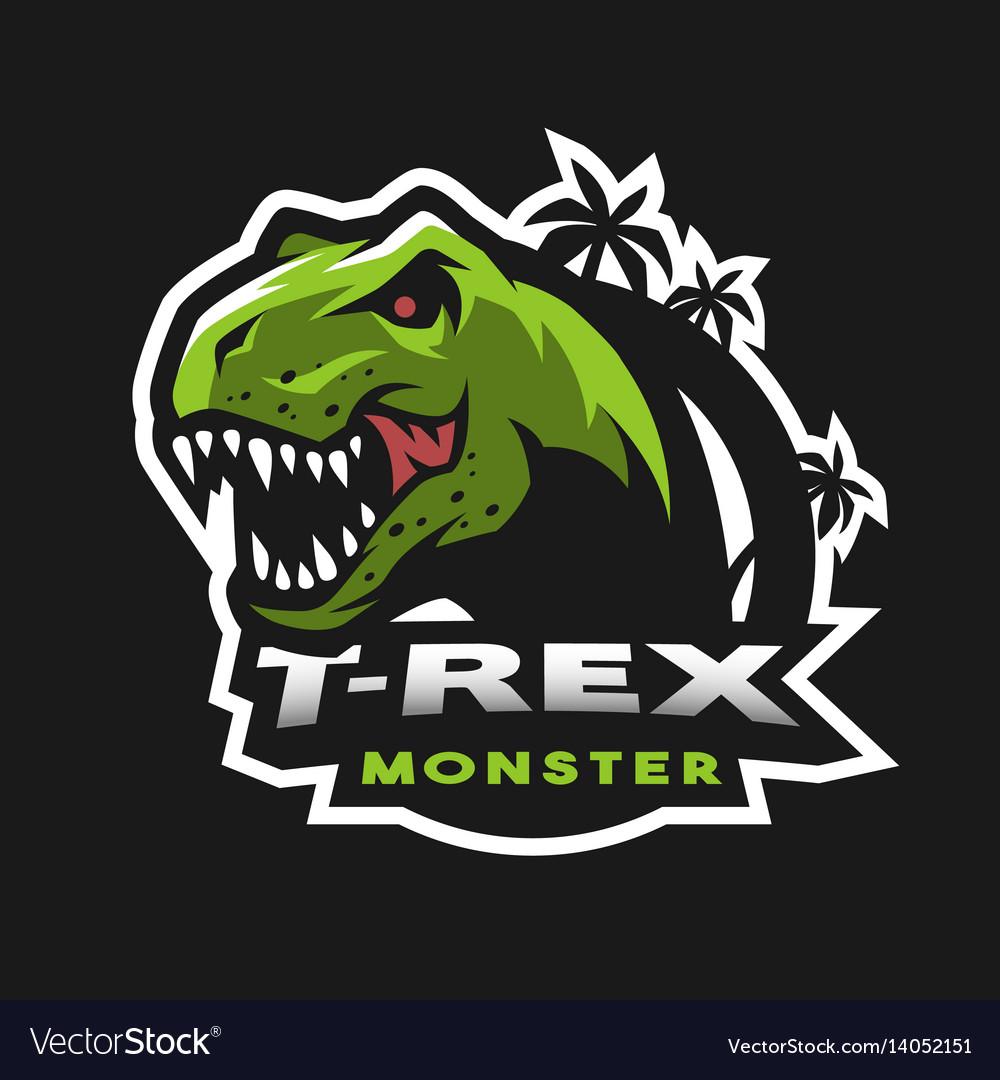 Dinosaur head logo emblem