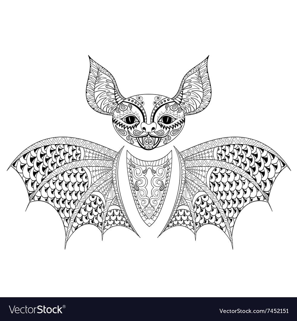 Entangle bat totem for adult anti stress coloring
