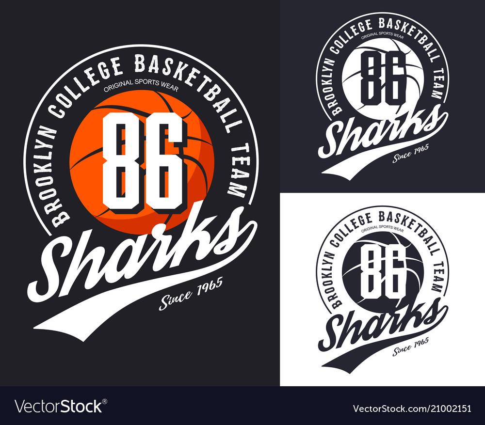 New york basketball team t-shirt print