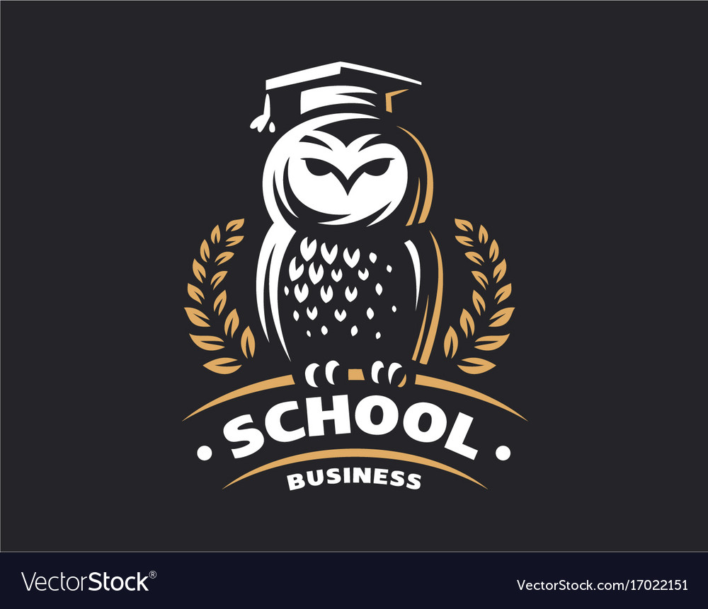Owl education logo - emblem