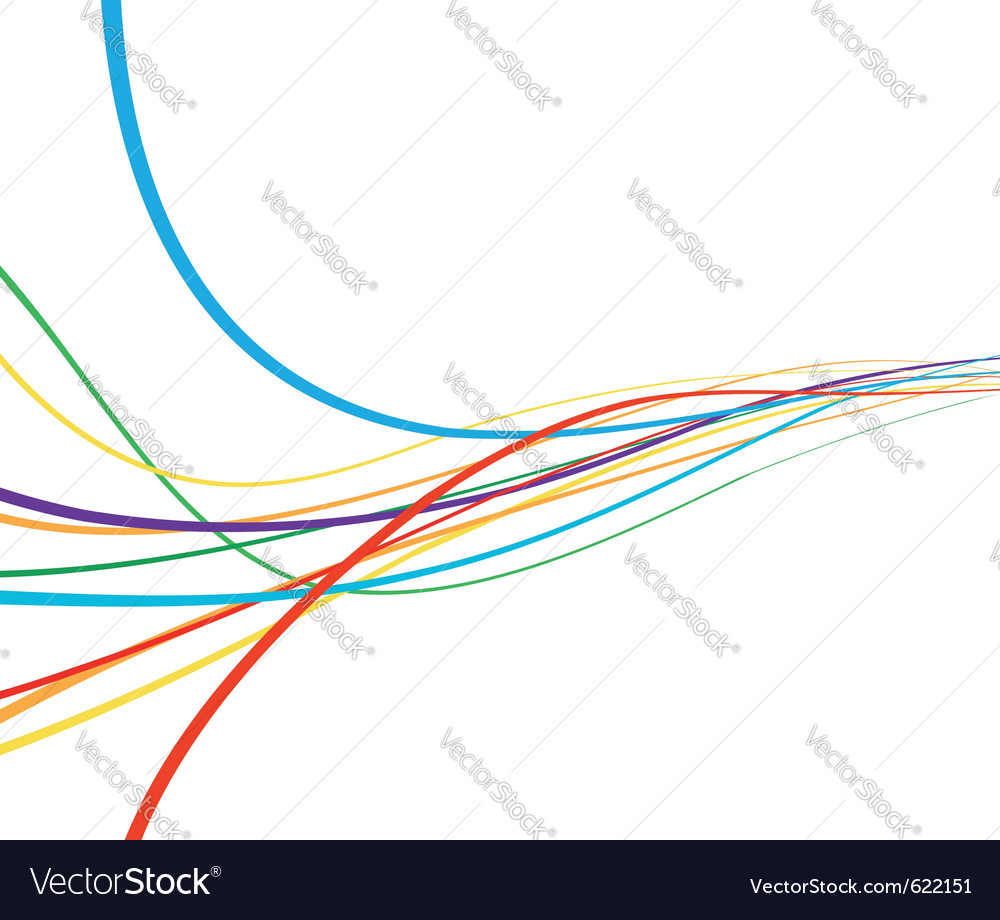 Rainbow abstract wave vector image