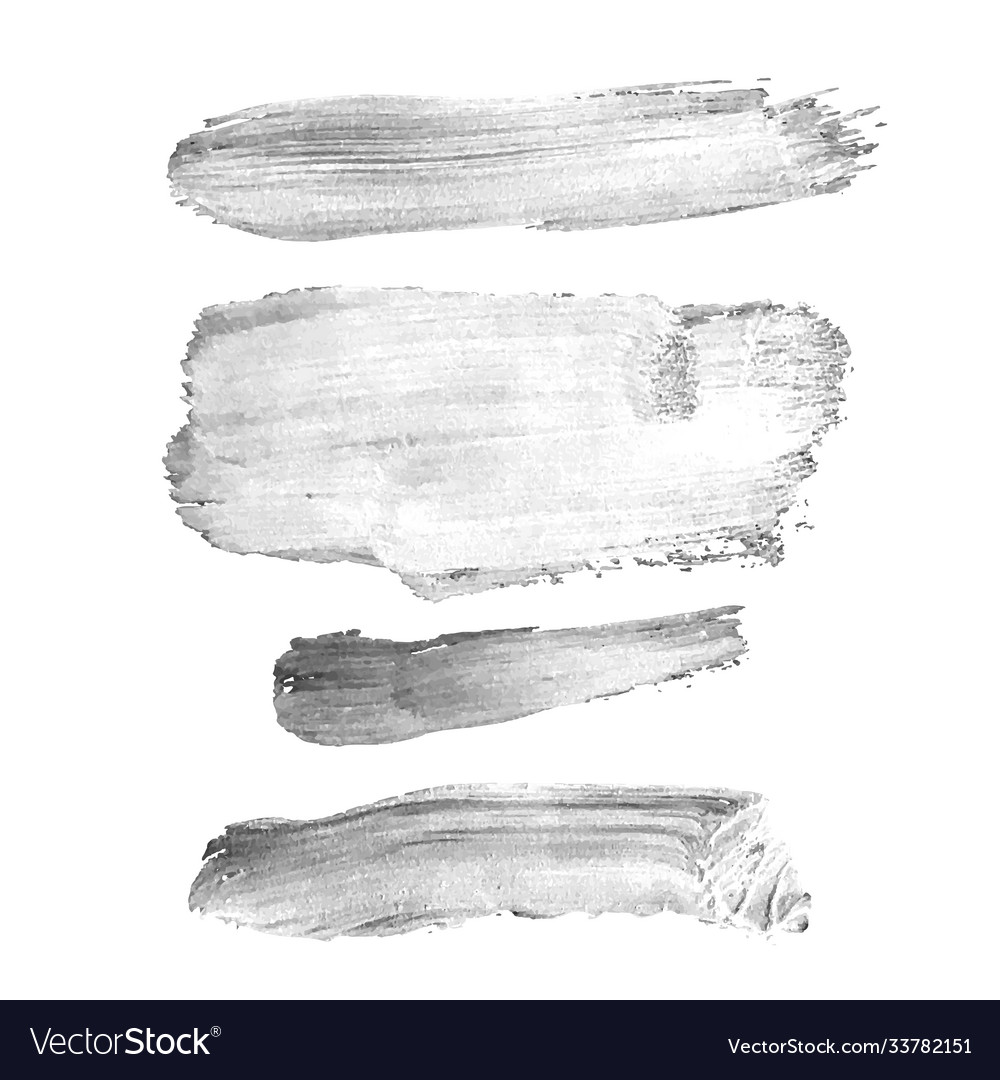 Set with gray abstract stain isolated on white