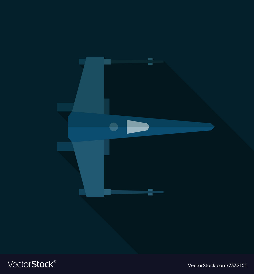 Space shuttle military aircraft flat art vector image