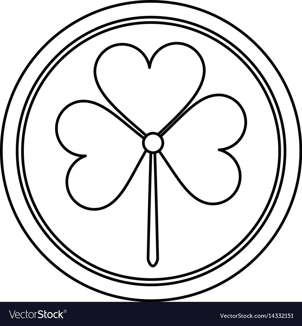 St patricks day shamrock icon thin line