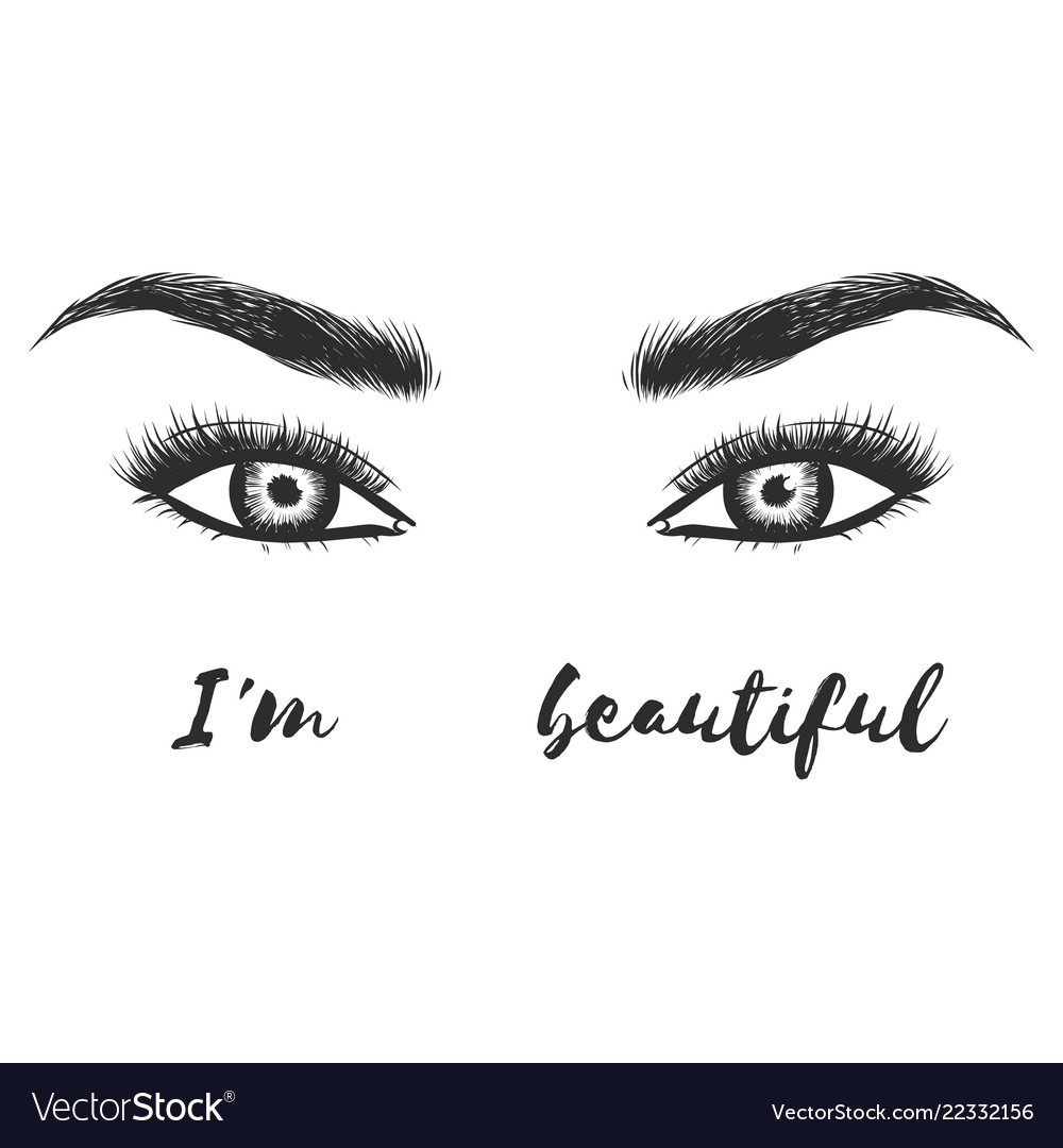 Beauty lash and brow studio logo typography