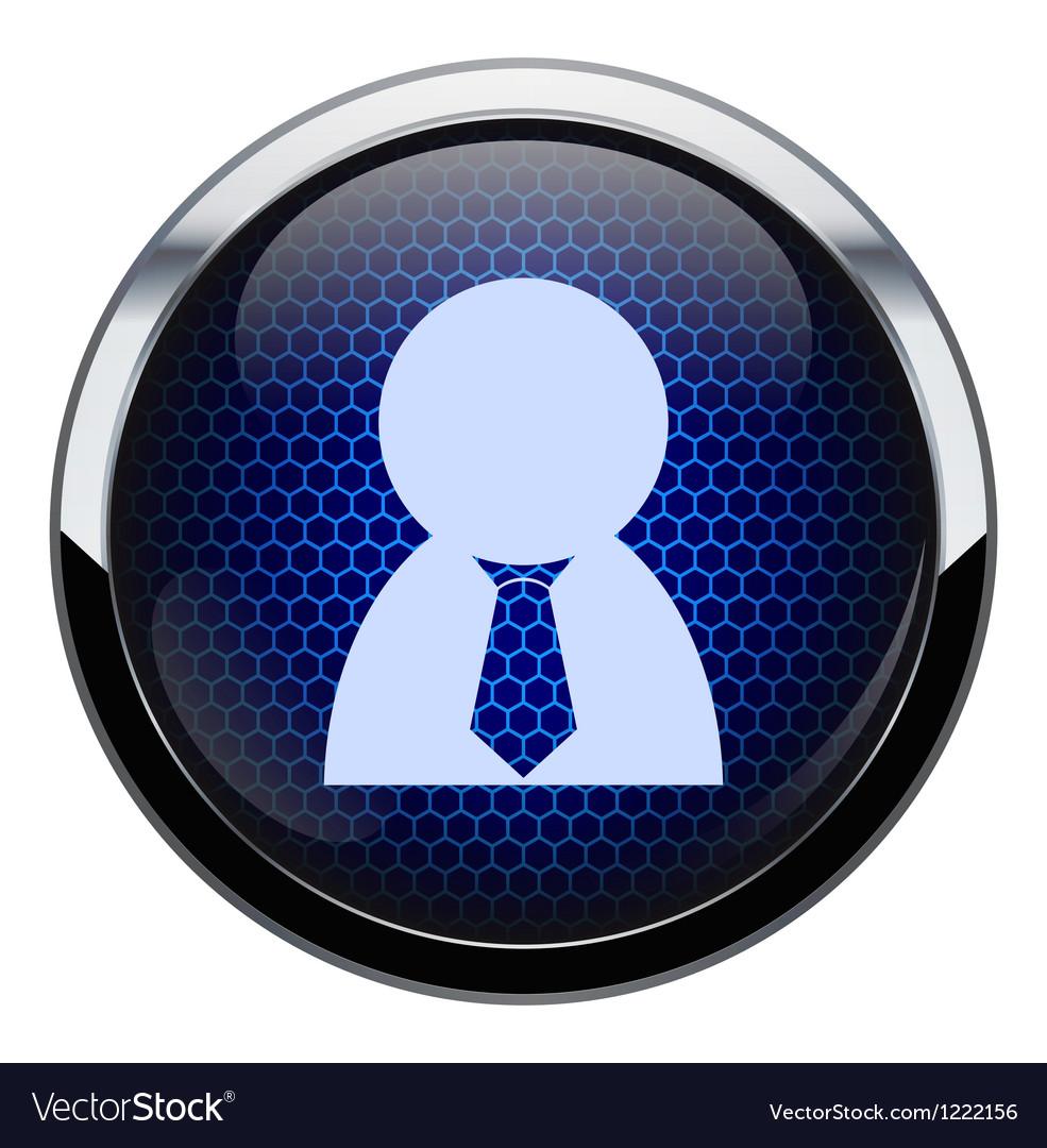 Blue honeycomb people icon