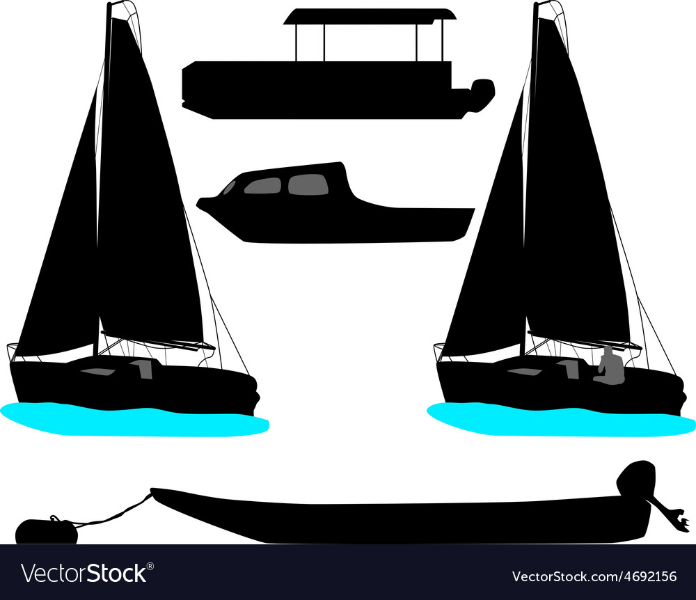 Boat and yacht vector image