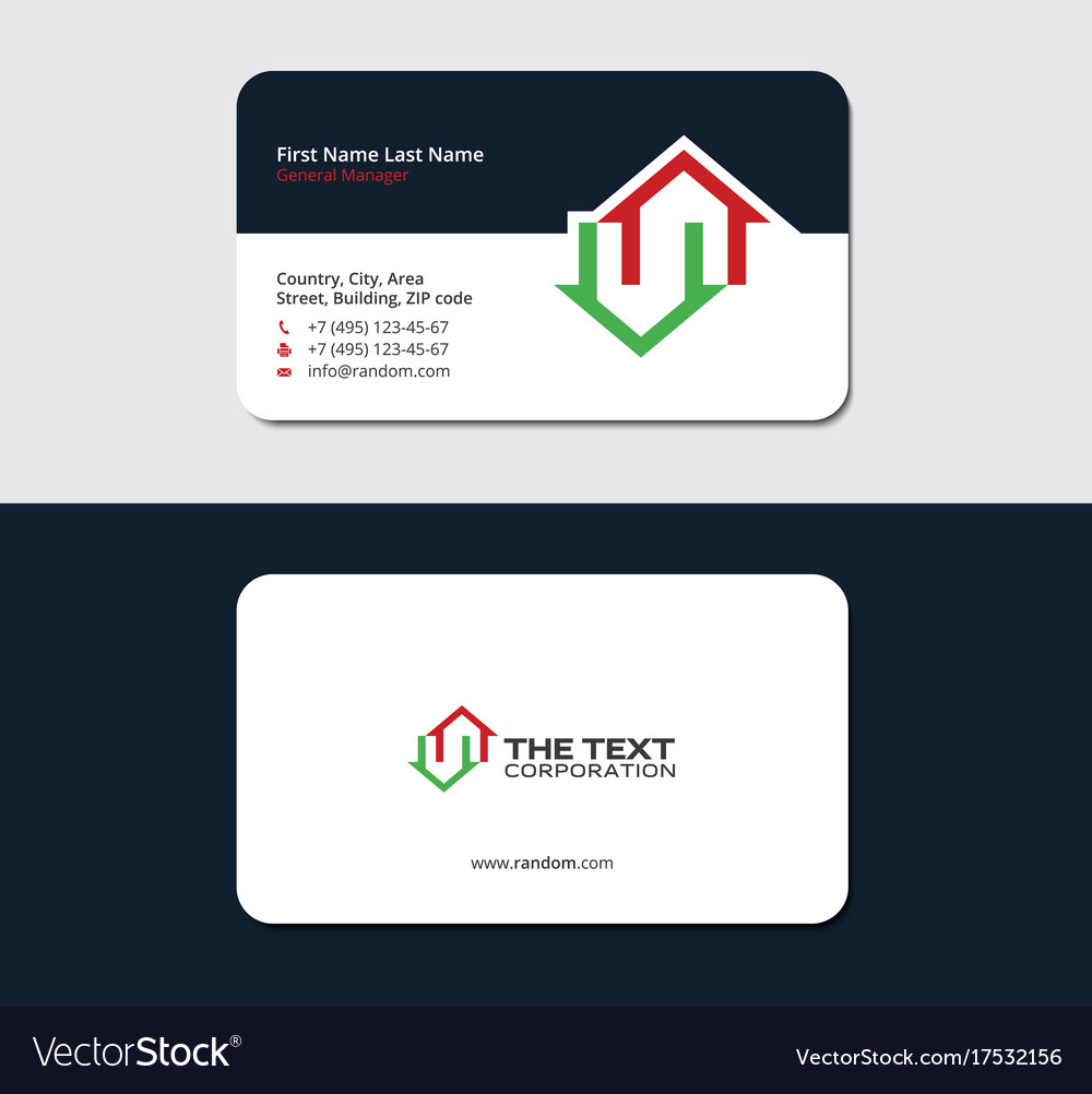 Business card for a real estate broker royalty free vector business card for a real estate broker vector image colourmoves