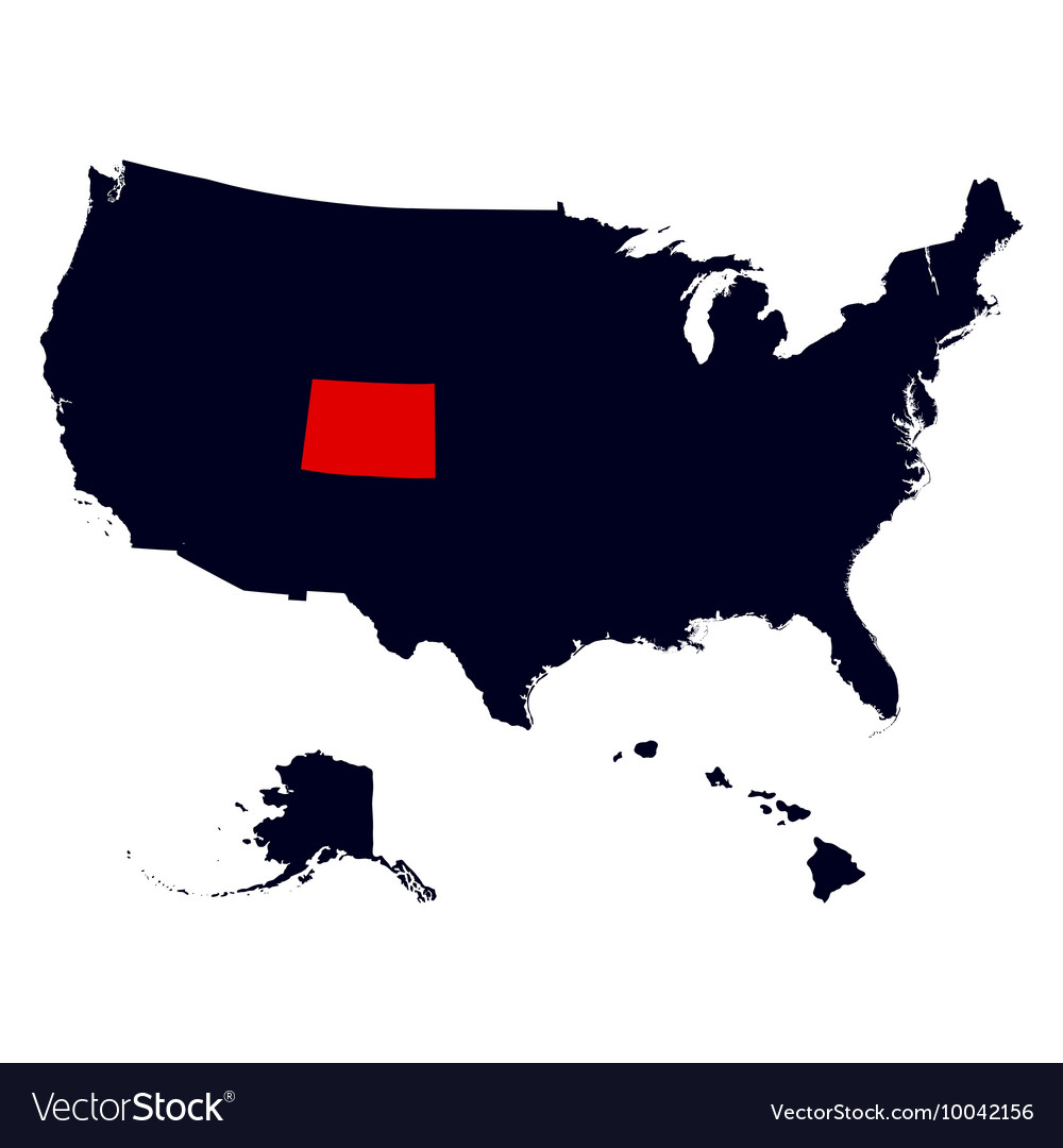 Colorado State in the United States map Royalty Free Vector