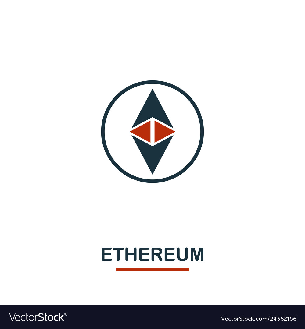 Ethereum icon creative two colors design from