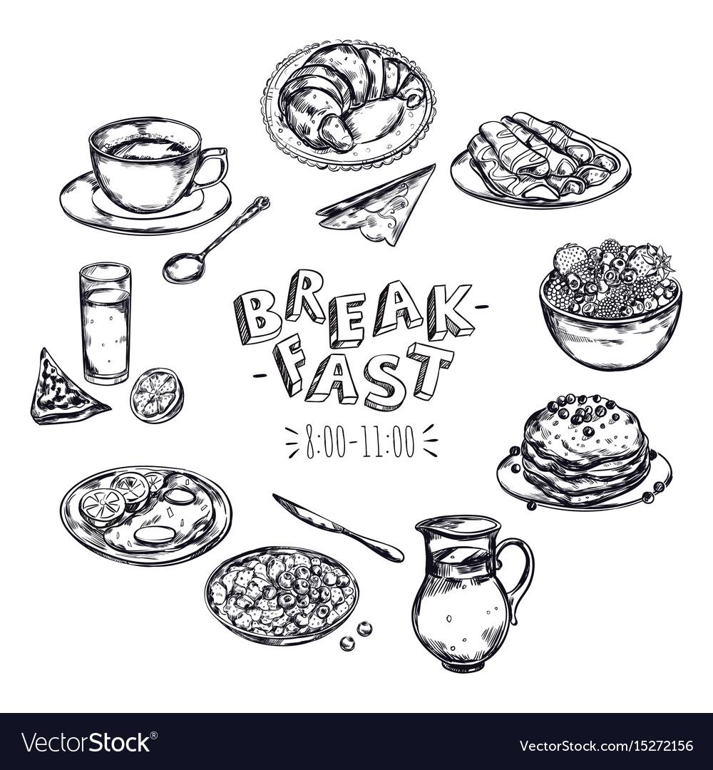 Food breakfast menu flyer