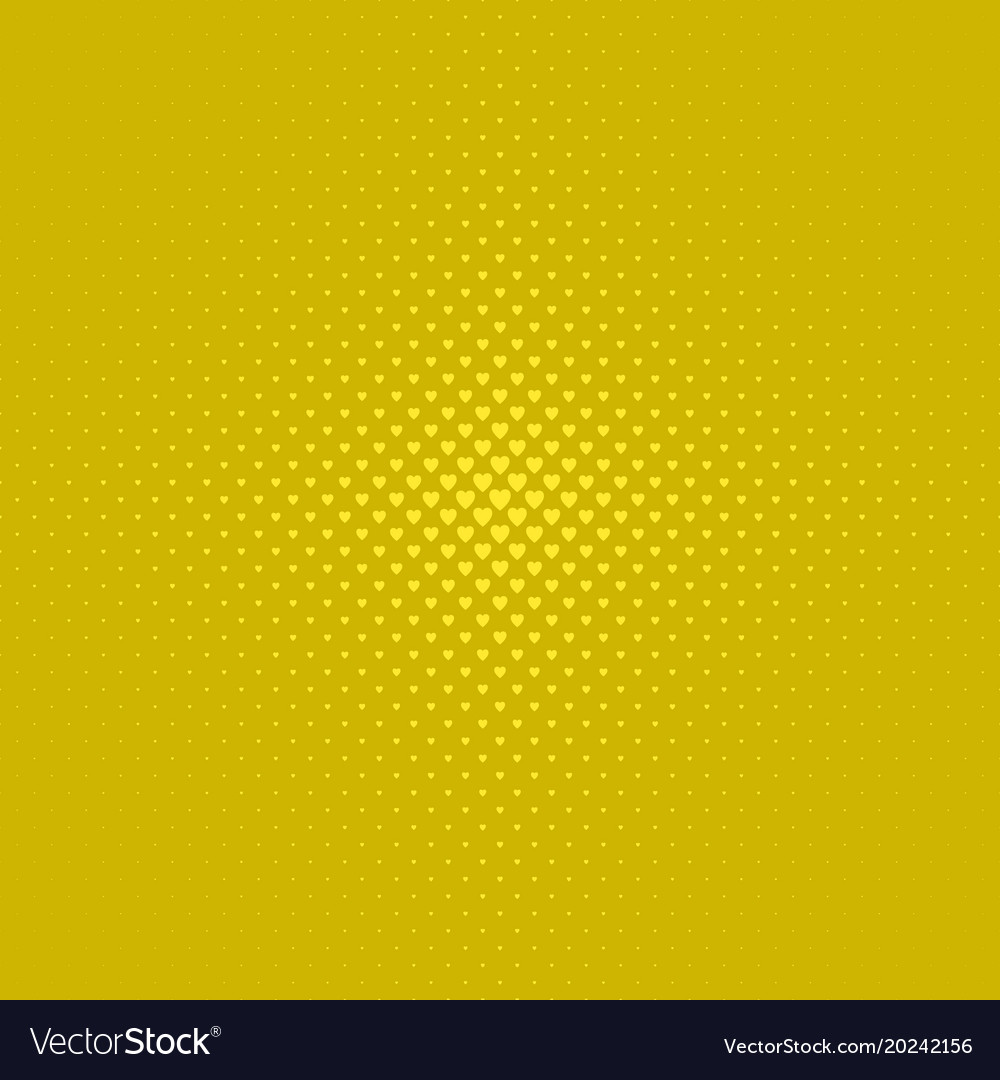 Gloden color abstract halftone heart background