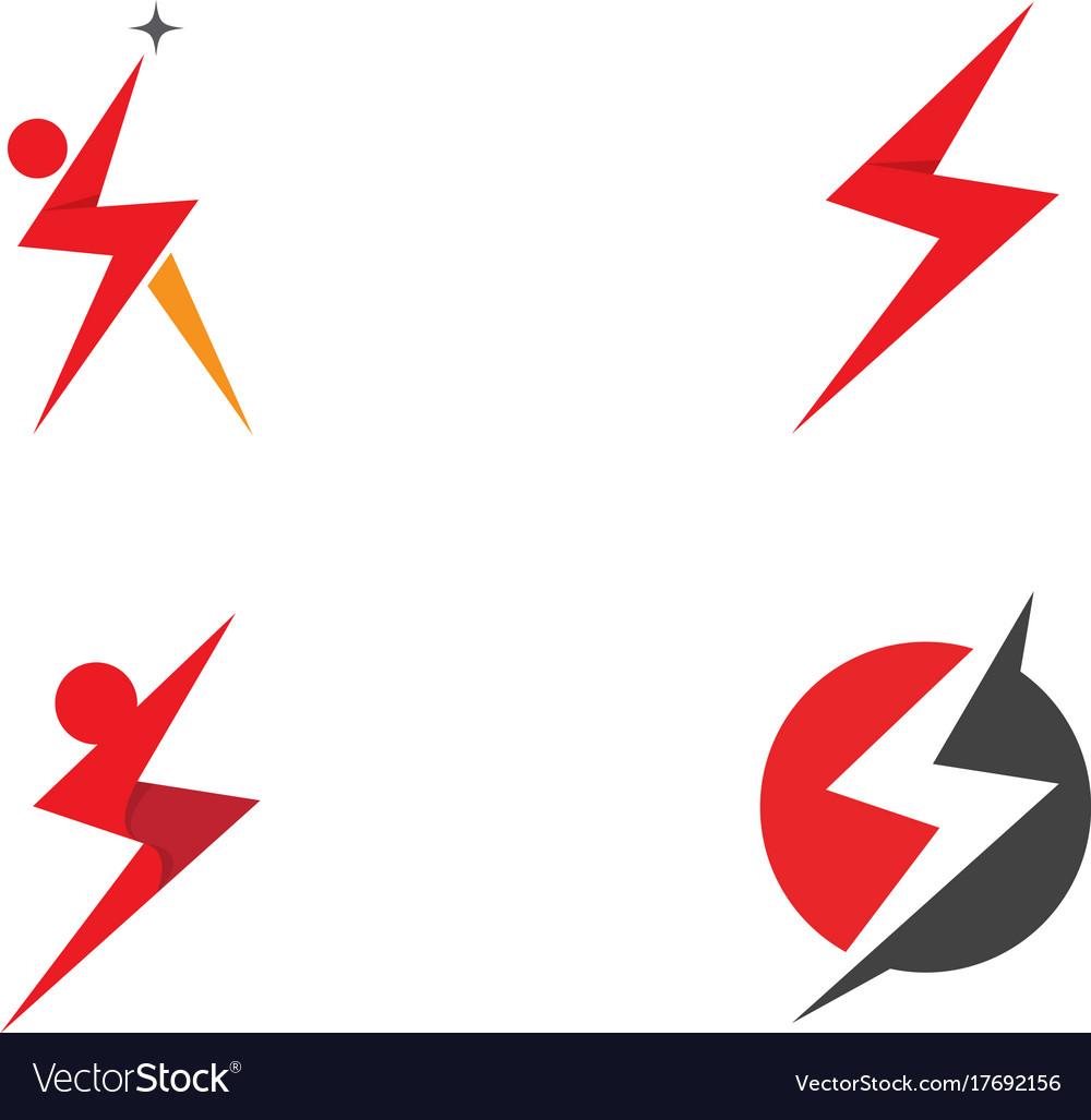 lightning logo template royalty free vector image