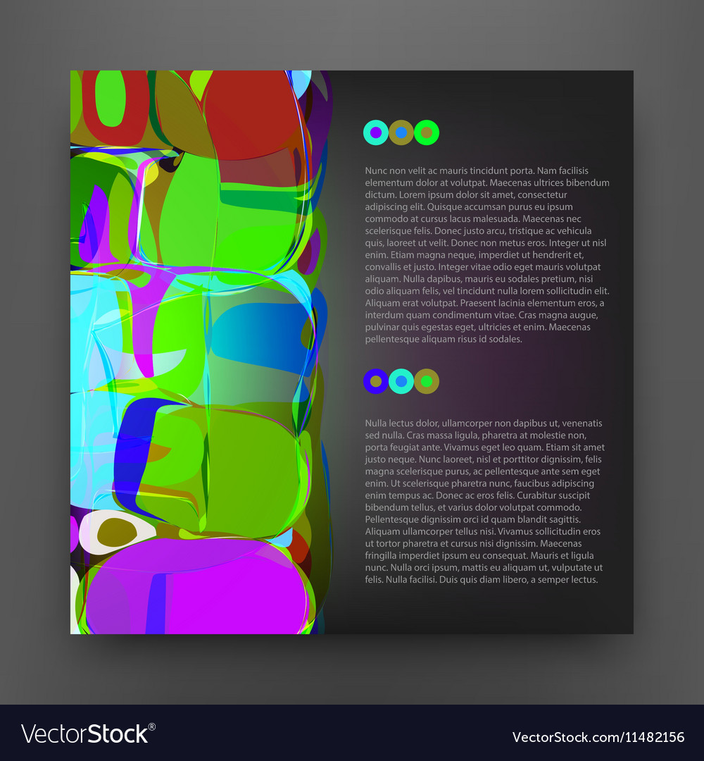 Squared Colorful Abstract Background