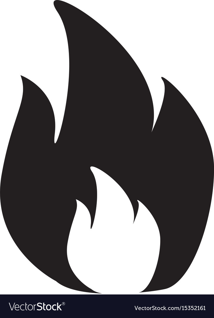 Fire icon in flat style isolated on white
