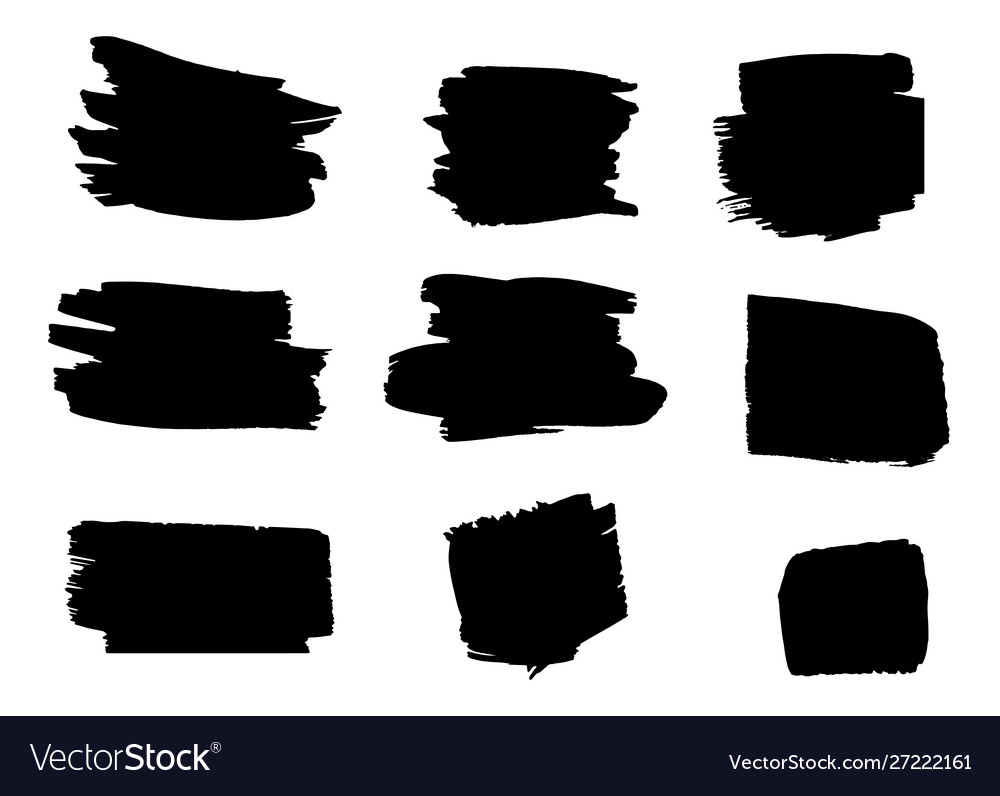 Set hand drawn brushes and design elements